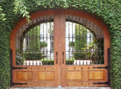 metal wood gate