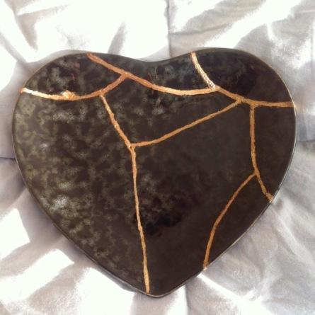 gold earth heart