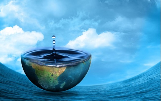 water with earth