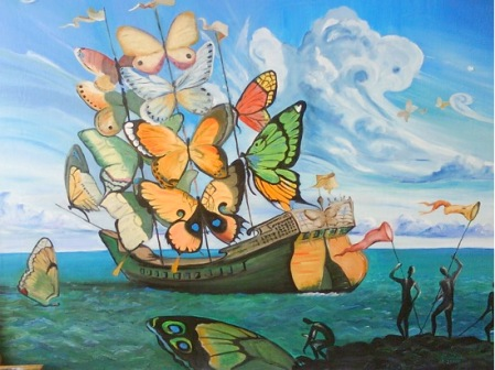 butterfly sails