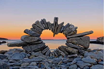 balance rocks heart