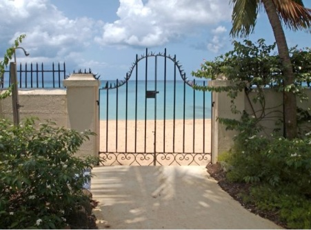 gated beach