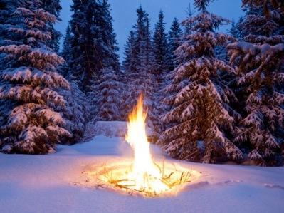 fire snow