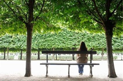 bench woman
