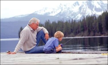 man boy fishing
